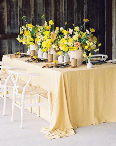 alquiler mantel amarillo